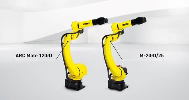 Robots M-20iD/25 y ARC Mate 120iD: Largo alcance, alta productividad