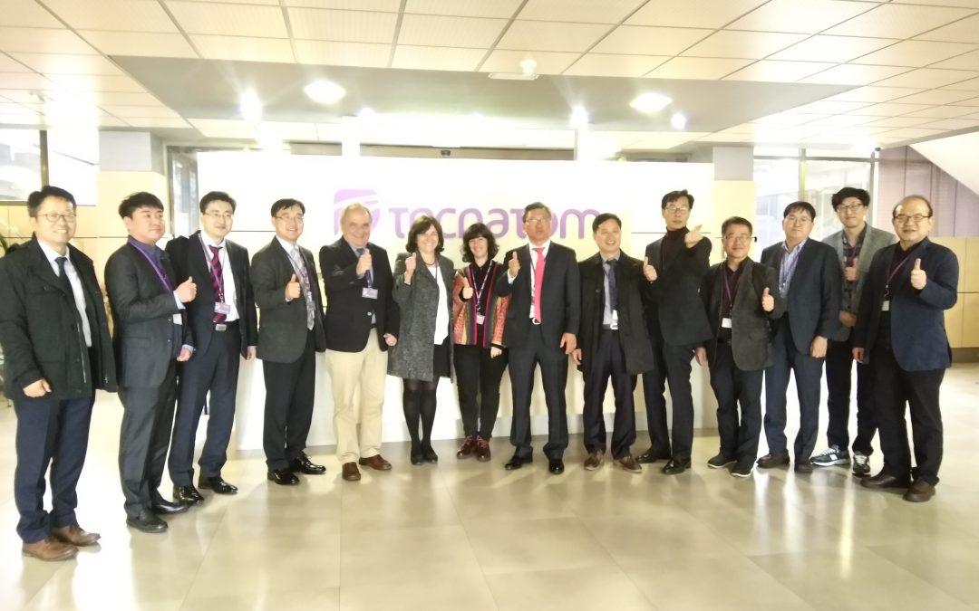 HispaRob recibe al presidente del Global Robot Clúster y otros profesionales del sector de Corea del Sur en Tecnatom, sede de su presidencia