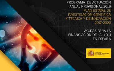 El Ministerio de Ciencia, Innovación y Universidades publica el Programa de Actuación Provisional 2019