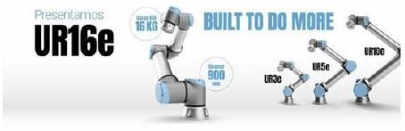 Última incorporación a la gama e-Series: un cobot diseñado para manejar operaciones caracterizadas por cargas pesadas de hasta 16 kg