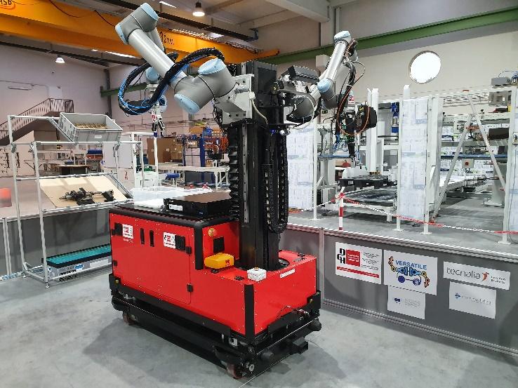 Plataforma movil bi-brazo para operaciones industriales