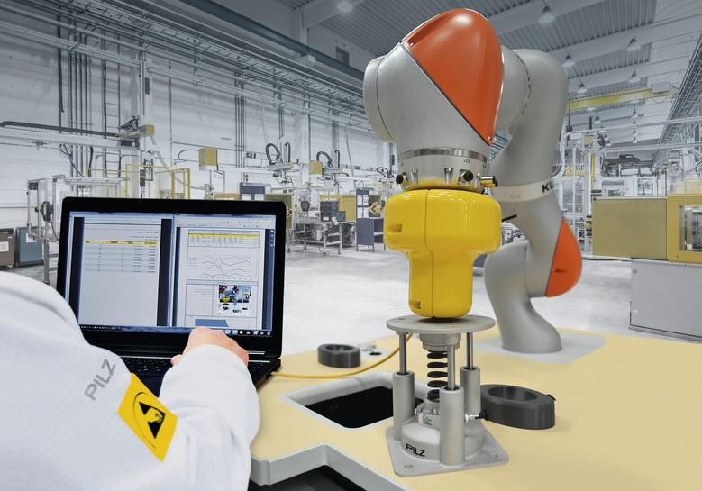 Servicio de medición de impactos para la certificación CE de celdas con robots colaborativos