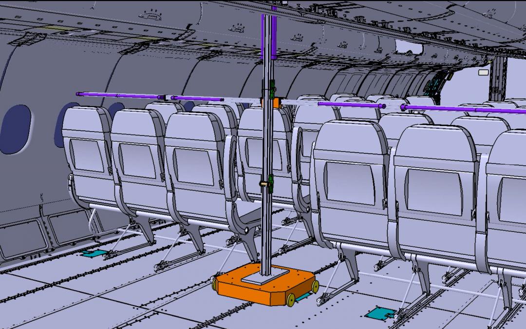 CT desarrolla FlightSafe, un sistema automatizado por luz UV-C de desinfección para el interior de las aeronaves comerciales