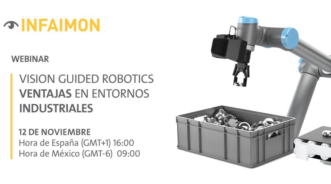 """Próximo webinar  INFAIMON """"Vision Guided Robotics"""", el 12 de Noviembre"""