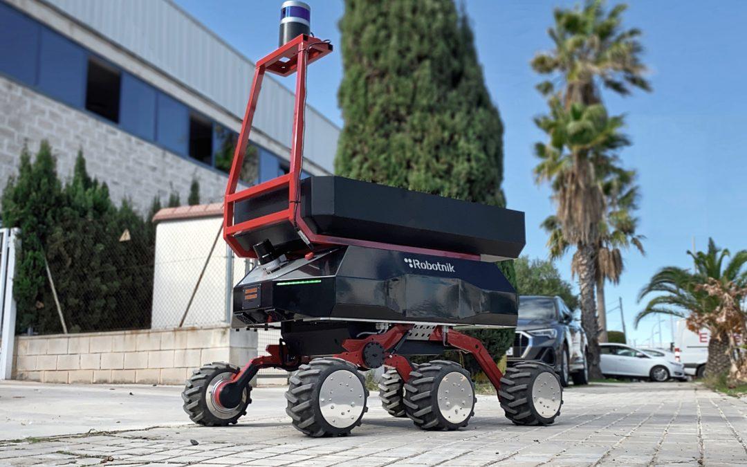 Robotnik y Eurecat desarrollan un robot colaborativo para el transporte autónomo de materiales en exteriores en la industria y la construcción