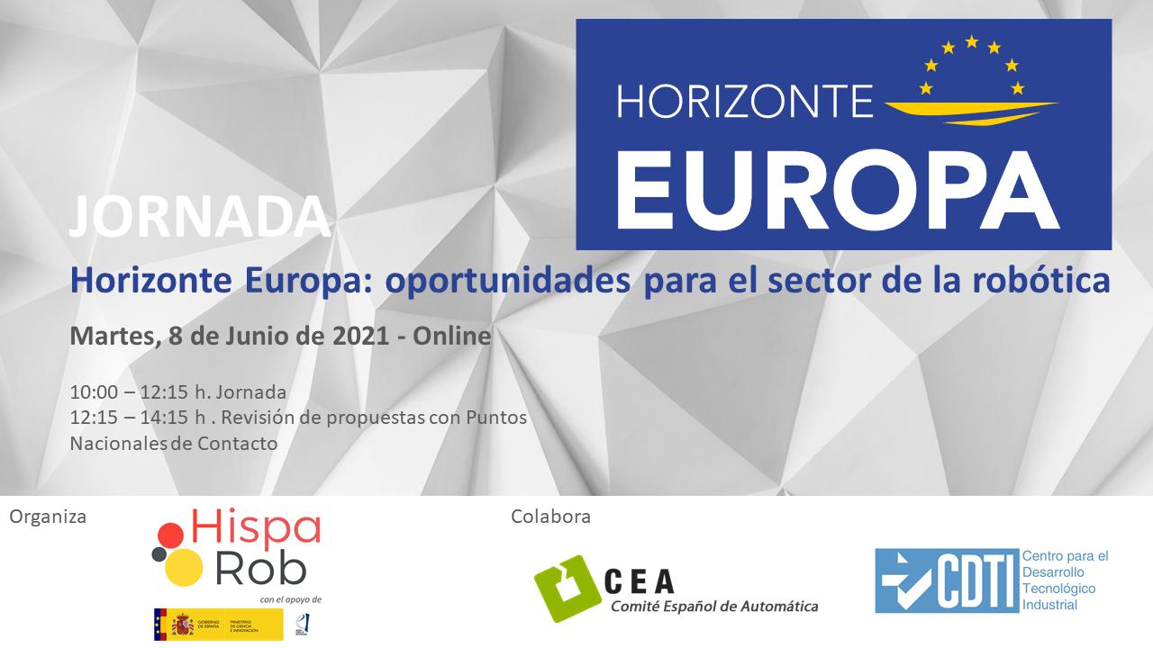 Jornada Horizonte Europa: oportunidades para el sector de la robótica