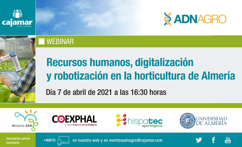 Webinar – Recursos humanos, digitalización y robotización en la horticultura de Almería