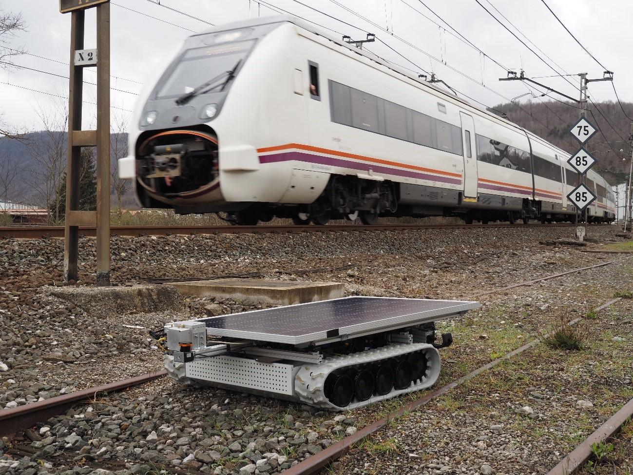 Nueva solución robótica para desherbado de vías de tren