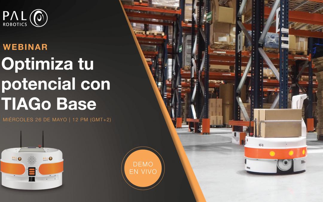 Nuevo webinar en intralogística con PAL Robotics: Optimiza tu potencial con TIAGo Base