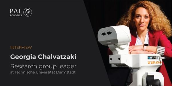 Entrevista a Georgia Chalvatzaki: sus inicios en robótica, el robot TIAGo, robots domésticos y más