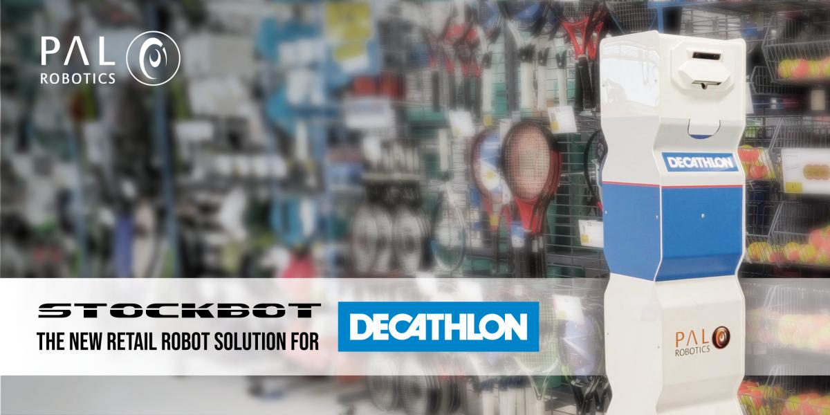 Decathlon elige a StockBot de PAL Robotics para implementarlo en varias tiendas por todo el mundo
