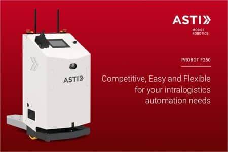 ASTI presenta un AGV con navegación SLAM para cargas de hasta 250 kg